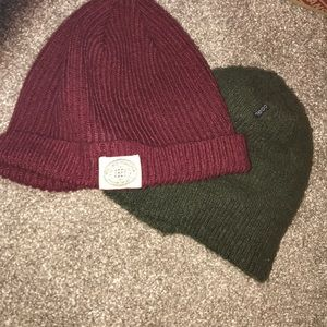 Coal and obey beanie red and green